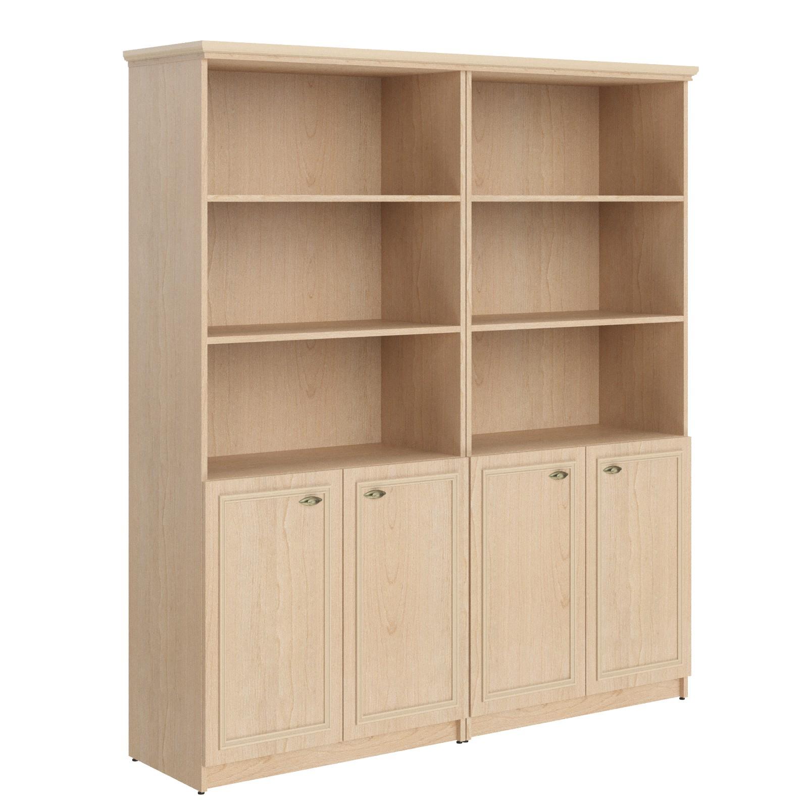 Шкаф высокий 2-х секц. с малыми дверьми rhc 180.5 бук тиара .